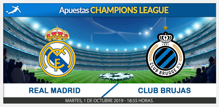 Apuestas Real Madrid -Club Brujas | Champions League.